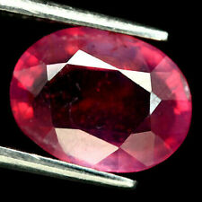 5.39 CT. NATURAL PINK RUBY GLASS FILLED MADAGASCAR OVAL