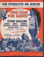 Un Poquito de Amor 1946 Esther Williams This Time For Keeps Sheet Music