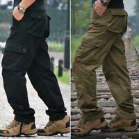 mens tactical overalls pants military security cargo combat trousers Slacks new
