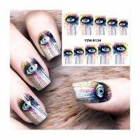 Nail Art Water Decals Stickers Transfers BIG Eye Graphics Gel Polish (s264)
