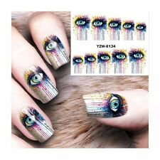 Nail Art Water Decals Stickers Transfers BIG Eye Graphics Gel Polish (s264)