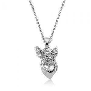 Anhänger Engel mit Herz 925 Sterling Silber Kettenanhänger Kette Schmuck