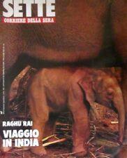P6  IL CORRIERE DELLA SERA SETTE - N.36 - 1992 - RAGHU RAI / PAOLO ROSSI