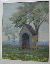 Altes Aquarell Marterl in Landschaft von 1943