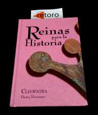 BOOK LIBRO REINAS PARA LA HISTORIA CLEOPATRA Henry Houssaye Tapa Dura