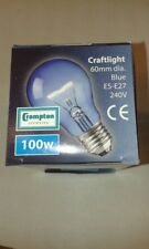 6 x Crompton BLUE CRAFTLIGHT 100W  E27 ES GLS Light Bulb Lamp 240V Quality UK