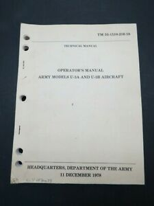 Original 1978 Army ( Cessna 310 ) U-3A U-3B Operators / Flight Manual