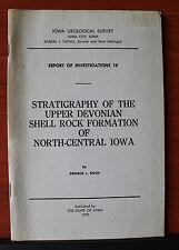 Shell Rock Formation Upper Devonian Iowa 1970 PB Geological Survey Geology