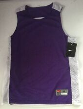 Nike Boys Basketball Reversible Practice Jersey Purple White Medium M Sleeveless