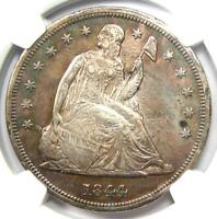 1844 Seated Liberty Silver Dollar $1 - Certified NGC XF Detail (EF) - Rare Date