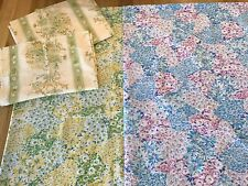 Vintage Retro Double Sheets X 2 And Matchy Pillow Cases - Vintage Fabric