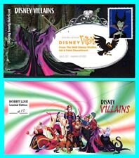 Disney Villains Sleeping Beauty, Maleficent First Day Cover with Color Cancel