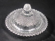 Vintage Miss America Pattern Butter Dish Reproduction Clear