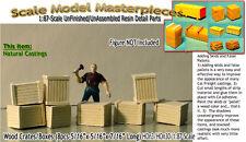 WOOD CRATES/BOXES (8pcs) Scale Model Masterpieces/Yorke HO Fine Craftsman Detail