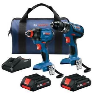 Bosch GXL18V-239B25 18V 2 Tool Combo Hammer Drill/Driver Kit - Reconditioned