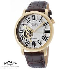 Rotary . GLE000019/21 . Armband Uhr Herren . Automatik . Leder . braun . NEU