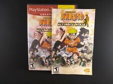 Naruto: Ultimate Ninja (Sony PlayStation 2, 2006) Ps2- w/ Manual Complete CIB