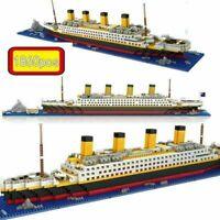 1860Pcs/set 3D TITANIC Ship Boat Block Mini Building Bricks EDC Toys Kids Gifts
