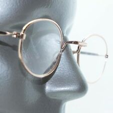 Simple Oval Gold Metal Wire Frame Square Bridge Reading Glasses +1.00 Lens