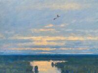Ducks Wildlife Marsh Wetlands Realism Landscape OIL PAINTING ART IMPRESSIONIST