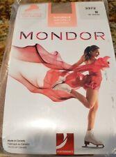 Mondor Satiny Finish Naturals Boot Cover Tights 3372 Suntan Adult M - FIVE PAIRS
