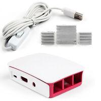 Official Case + USB Cable + Aluminum Dissipateur Pour Raspberry Pi3 Mod¨¨le B AF