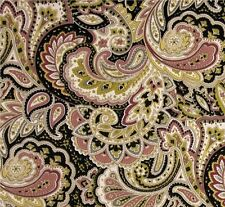 Outdoor/ Indoor ~ Upholstery ~ PAISLEY~ Dusty Pink- Black~ Fabric ~ per 1/4 yard