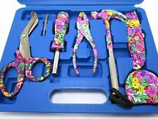 Ladies 12pc Floral Tool Kit / Set inc; Hammer Pliers Screwdriver Scissors etc DP