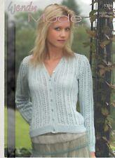 01ddb7776555de Wendy Knitting Pattern 5396 Lacy Cardigan 32-42