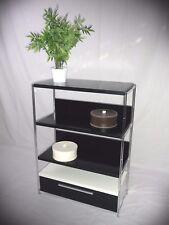 BALTON Regal mit Schublade 85 cm schwarz erweiterbar NEU Chrom Holz
