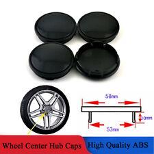 4Pcs/Set Black ABS Car Wheel Center Hub Decoration Cap Cover Clip On 58mm / 53mm