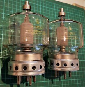PL-5D22 / 4-250A / QY4-250 / QB3.5/750 / 6156 RF Power Tetrodes, mint NOS pair