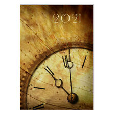 Design Terminkalender / Buchkalender 2021 DIN A4 - 1 Tag=1 Seite - Vintage Uhr