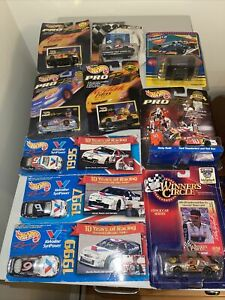Hot Wheels NASCAR Lot Petty Earnhardt Rudd Roush Marlin Martin Ten Cars Total