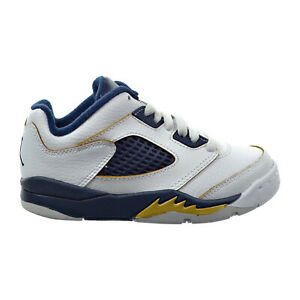 Jordan 5 Retro Low Dunk From Above Little Kid's Shoes White-Gold-Navy 314339-135