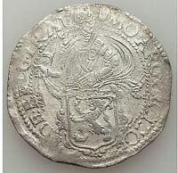 1617 NETHERLANDS UTRECHT LION SILVER DAALDER  L@@K