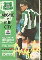 Football Programme - Plymouth Argyle v Hull City - Div 2 - 11/12/1993