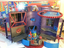 X-Men Headquarters w/ Spiderman action figure playset in box danger room / case