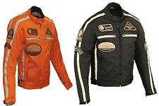 Veste Pour Moto Homme, Motard Blouson en Textile, Cordura, Poliester, Noir M-5XL
