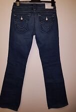 Womens True Religion  Becy Crystal Pave Bootcut Jeans Size 29