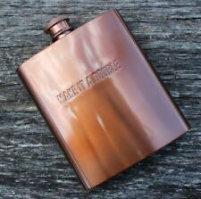 W&P MAS-FLASK Copper Pocket Hip Flask, Leakproof, Stainless Steel, Travel Flask,