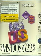 """MS DOS 6.22 UPGRADE SEALED BAG with (3) 3.5"""" DISKETTES & EMPTY BOX & COA !!"""