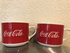 Vintage Coca-Cola Coke Small Mug / Cup Lot 1997 Gibson 8oz Red White Set of 2