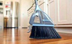 VaBroom 2-in-1 Sweeper with Built-in Vacuum, Combination Cordless Vac Broom