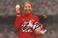 Atletica leggera: MARINA arzamasova firmato MEDAGLIA D'ORO 6x4 FOTO D'AZIONE + COA * Rio 2016 *