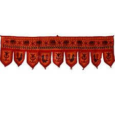 Indian Wall Hanging Embroidered Toran Handmade Patchwork Window Door Valances
