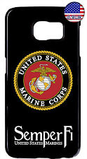 Marines Corps USMC hard Rubber Case For Samsung Galaxy S10e S10+ S9 S8 S7 Edge