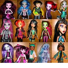 Original Monster High mattel serie dif. muñecas escoger Deuce Lagoona Cleo...