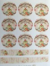 1 Din A4 Bogen Vintage W9 Potchvorlagen  potchen / übertrage auf Holz, Stoff