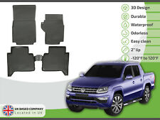 Tailored Rubber Set 3D Tailored Heavy Duty Mats Tray for VW Amarok  2010-2016